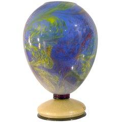 Rare Vintage Colored Murano Glass Lamp