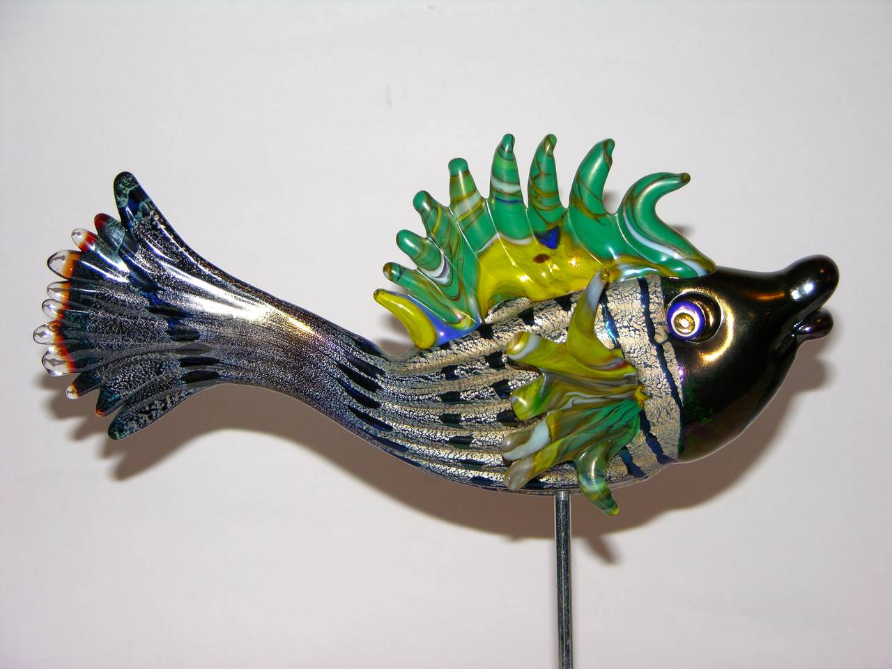 I lirici italian murano glass fish sculptures image 6 for Murano glass fish