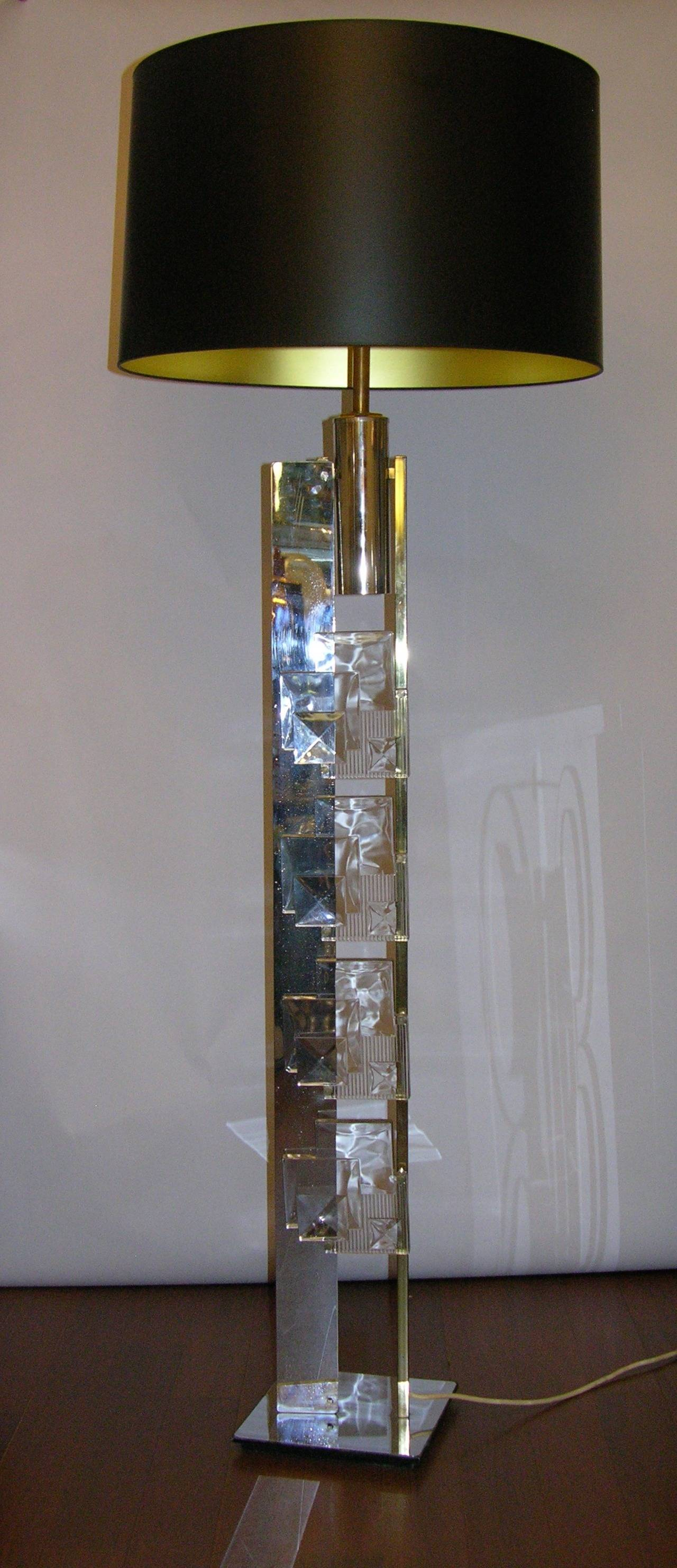 Esperia Rare Sculptural Bronze and Chrome Italian Floor ...