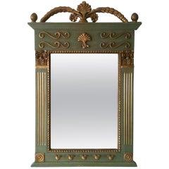 1970s French Decorative Gilt Mirror