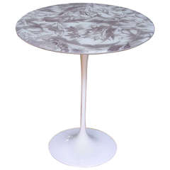 1960s Italian Tulip Table with Laminated Fabric Top