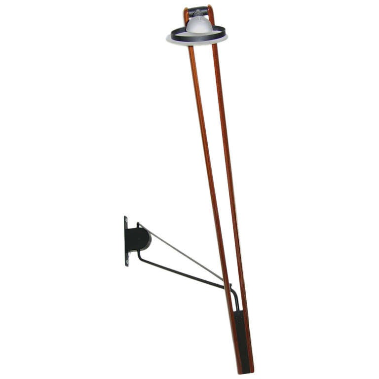Wall Lights With Adjustable Arms : Italian High Tech Adjustable Wall Light with Swing Arm For Sale at 1stdibs