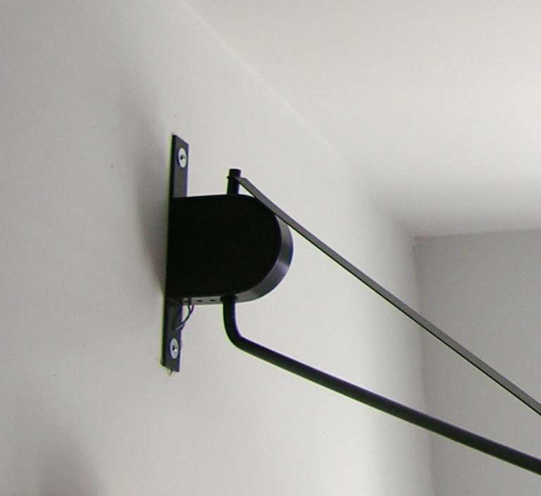 Italian High Tech Adjustable Wall Light with Swing Arm In Excellent Condition For Sale In New & Italian High Tech Adjustable Wall Light with Swing Arm For Sale at ...