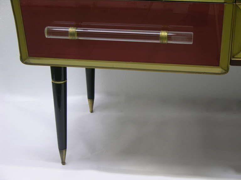 1960s Rare Italian Playful Sideboard/Console with Six Drawers 5
