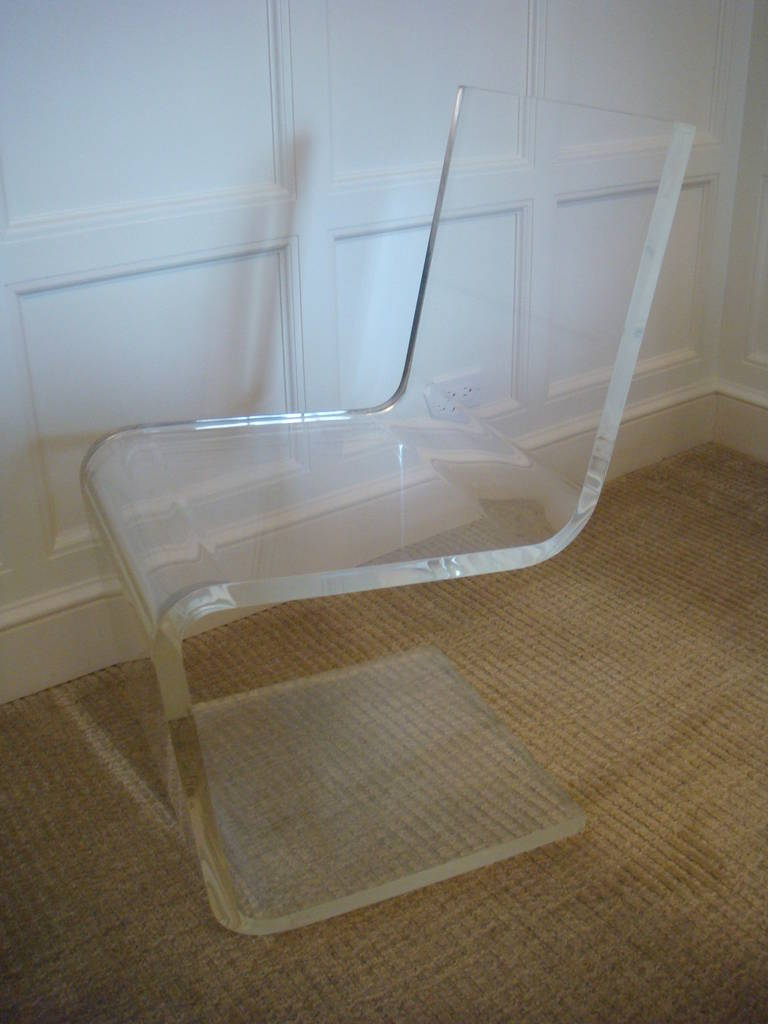 Vintage Clear Lucite Waterfall Desk And Chair At 1stdibs