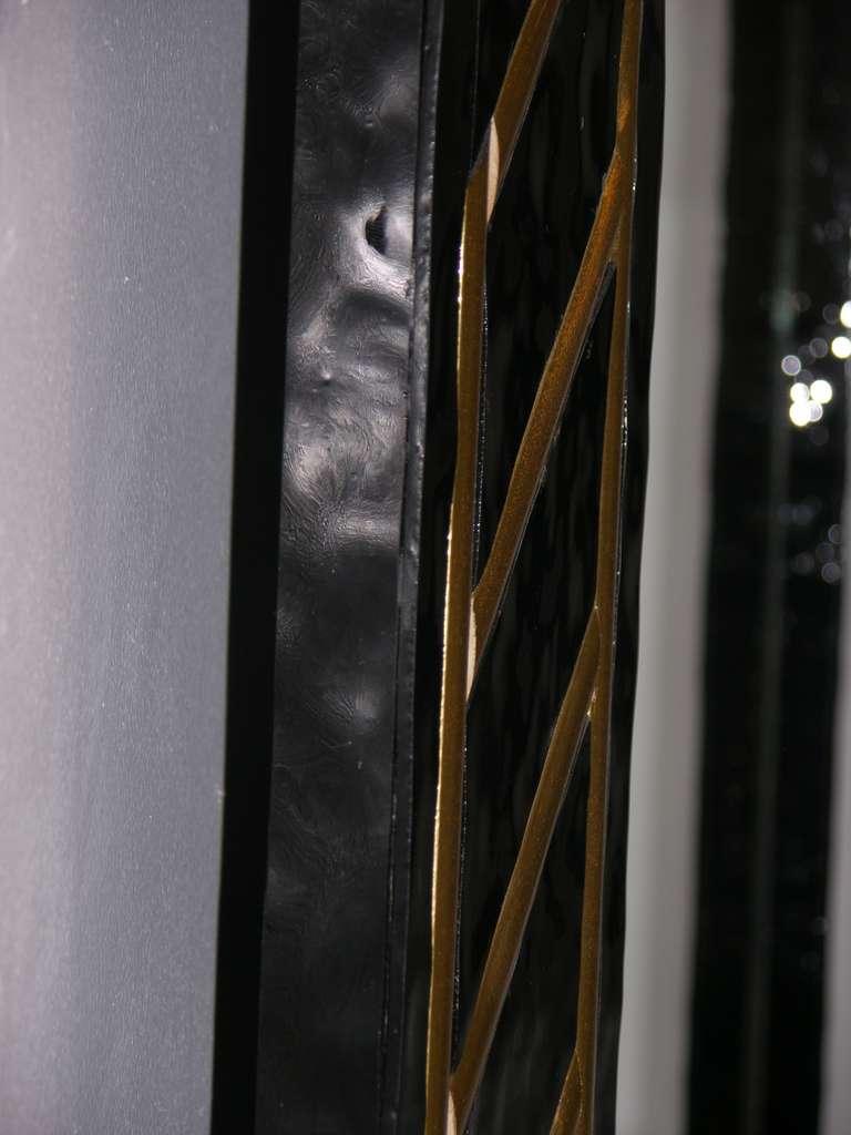 1970s Italian Art Deco Design Black And Gold Vintage