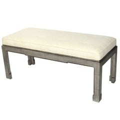 Silver Leaf Bench, in the manner of James Mont