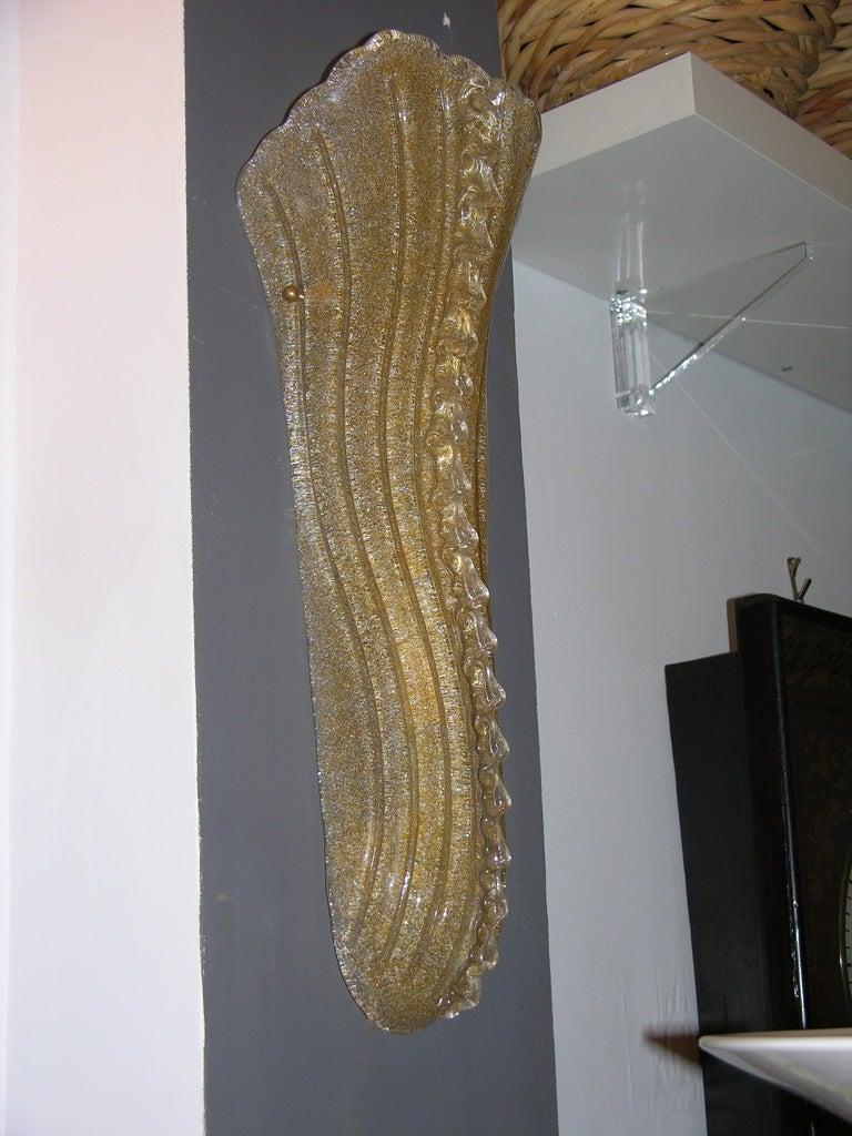 Amber Glass Wall Lights : Vintage Italian Pair Of Barovier-Toso Amber Murano Glass Wall Lights at 1stdibs