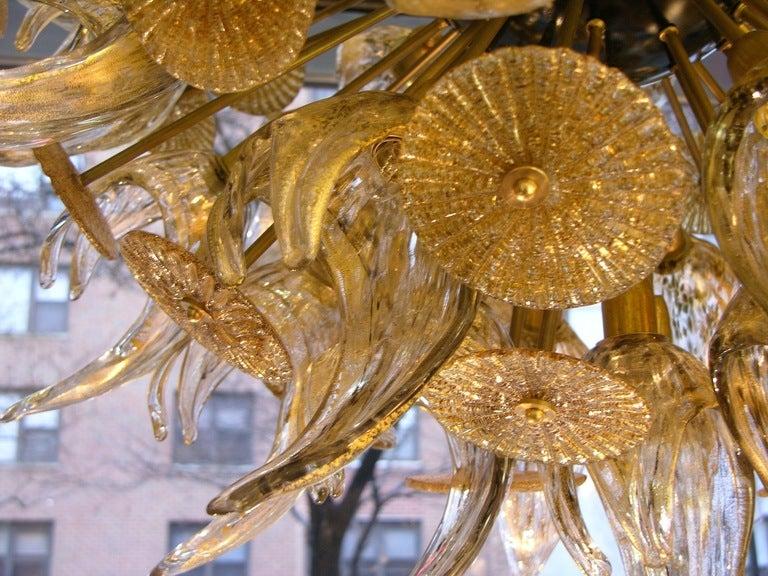1960s One Of A Kind Pure Gold Murano Glass Sputnik