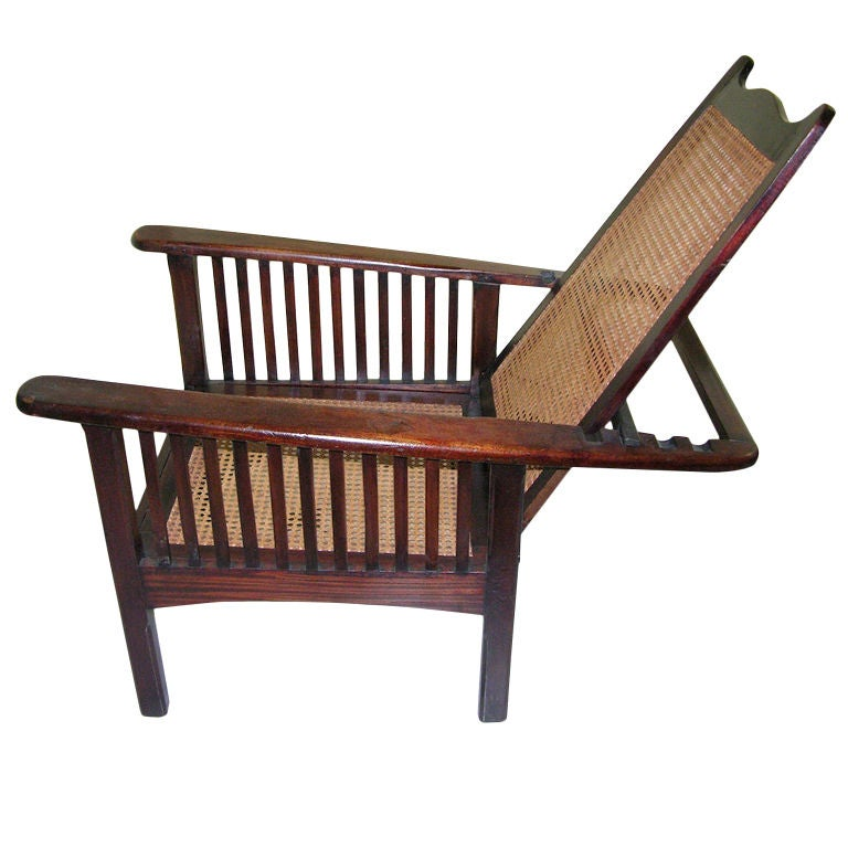 English arts and crafts chaise longue in tropical rose wood at 1stdibs - Chaise longue in english ...