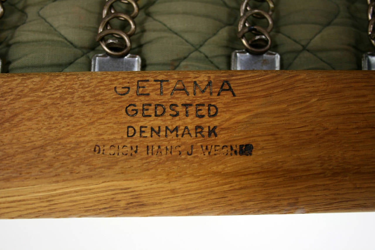 Danish Mid-Century Oak GE-290 Lounge Chair by Hans Wegner for Getama For Sale 2