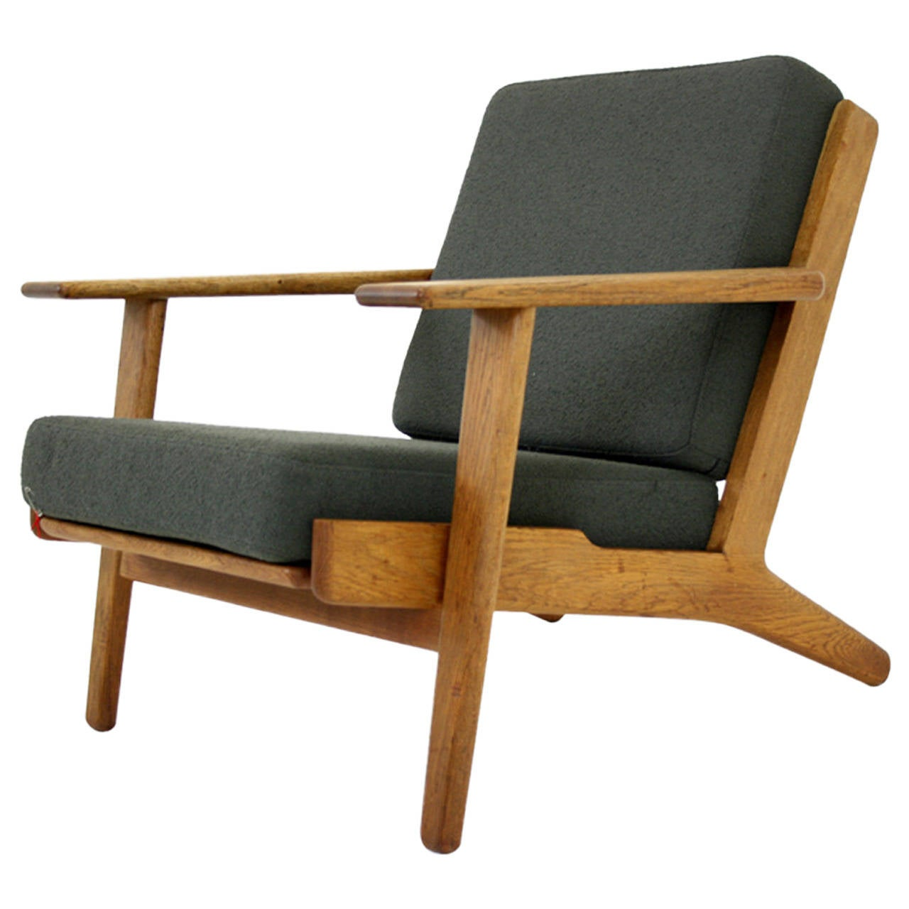 Danish Mid-Century Oak GE-290 Lounge Chair by Hans Wegner for Getama For Sale