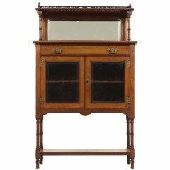 Petite Victorian Two Door Display / Curio Cabinet