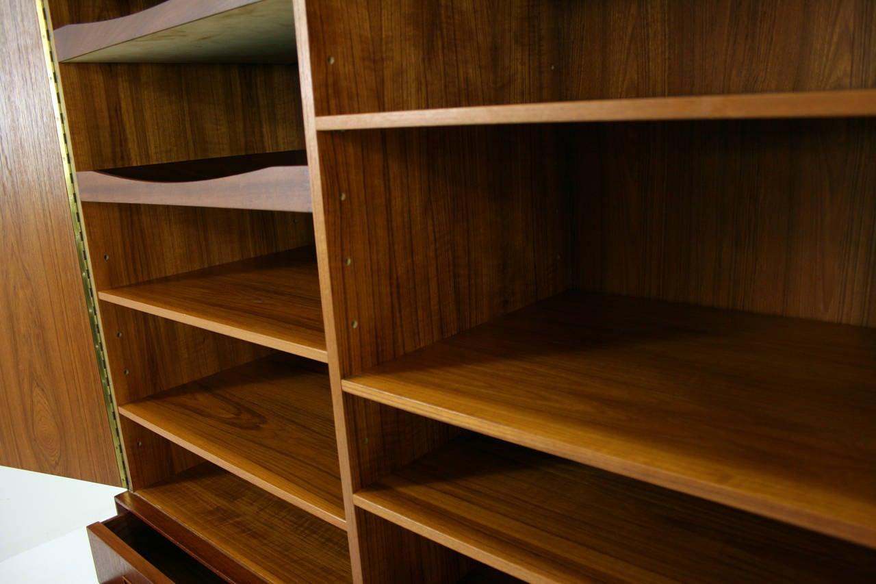 Danish Mid Century Modern Teak Cabinet Cupboard Credenza Sideboard at 1stdibs