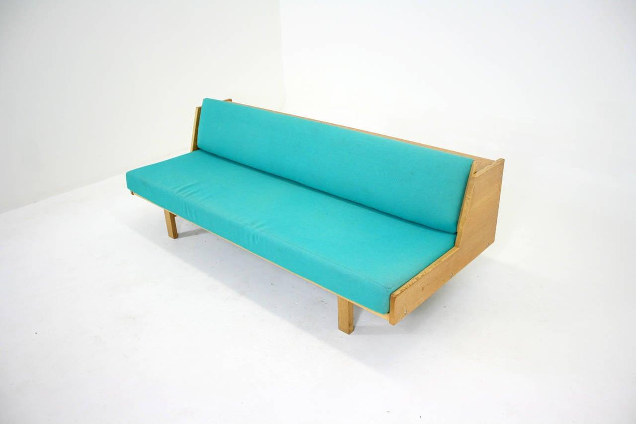 danish mid century modern oak day bed sofa by hans wegner for getama