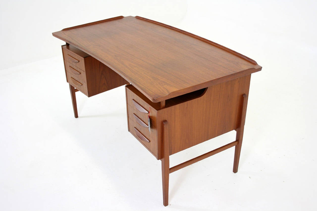 mid century modern office desk. danish mid century modern teak writing desk work table office 3 1stdibs