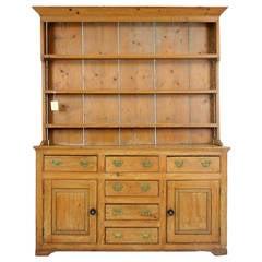 Victorian Pine Welsh Dresser Sideboard Cupboard