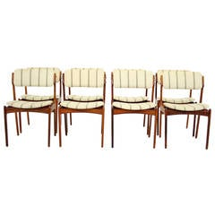 8 Danish Mid Century Modern Rosewood Chairs by Erik Buck Model 49