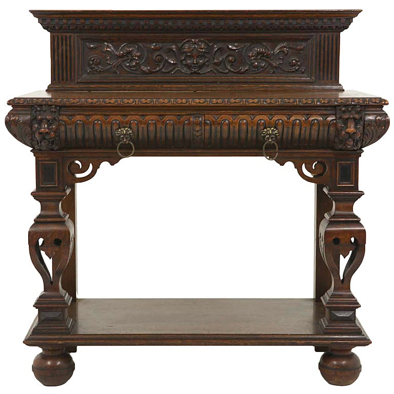 Superb victorian oak hall table at 1stdibs for Sofa table victorian