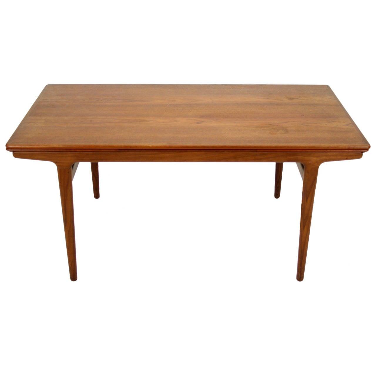 Danish Mid Century Modern Teak Dining Table By Johannes