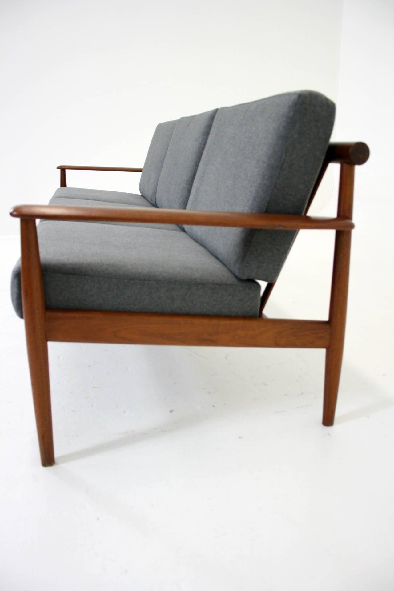 Danish Mid Century Modern Stunning Teak Three Seat Sofa Or Couch At 1stdibs