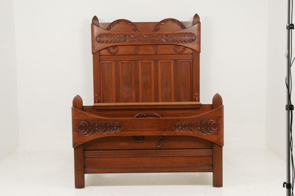 Elegant antique american walnut bed at 1stdibs - Vintage pieces of furniture old times elegance ...