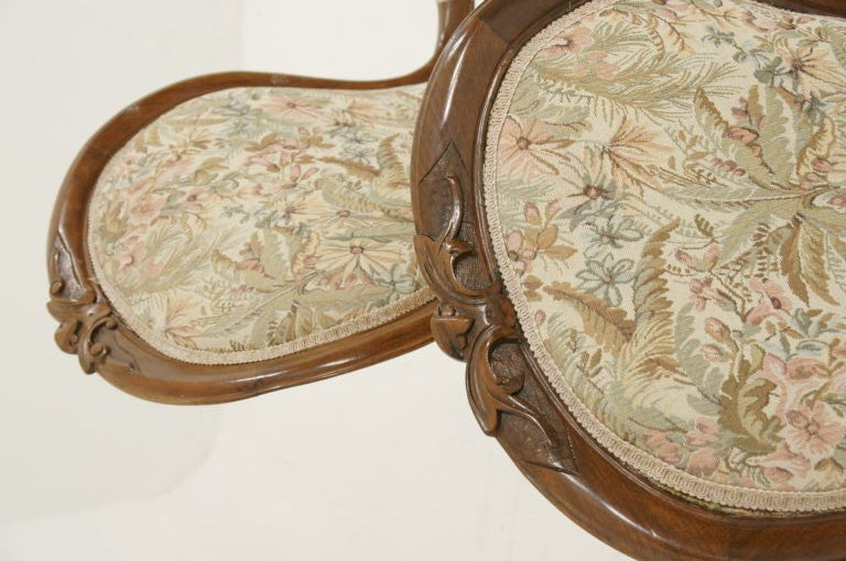 Pair Victorian Ladies and Gents Parlour Chairs image 3