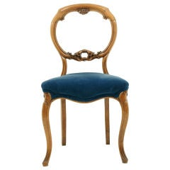 Mahogany Balloon Back Chair