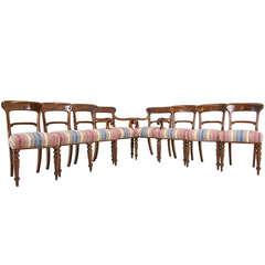 Set of 8 Scottish Victorian Mahogany Dining Chairs (6+2)