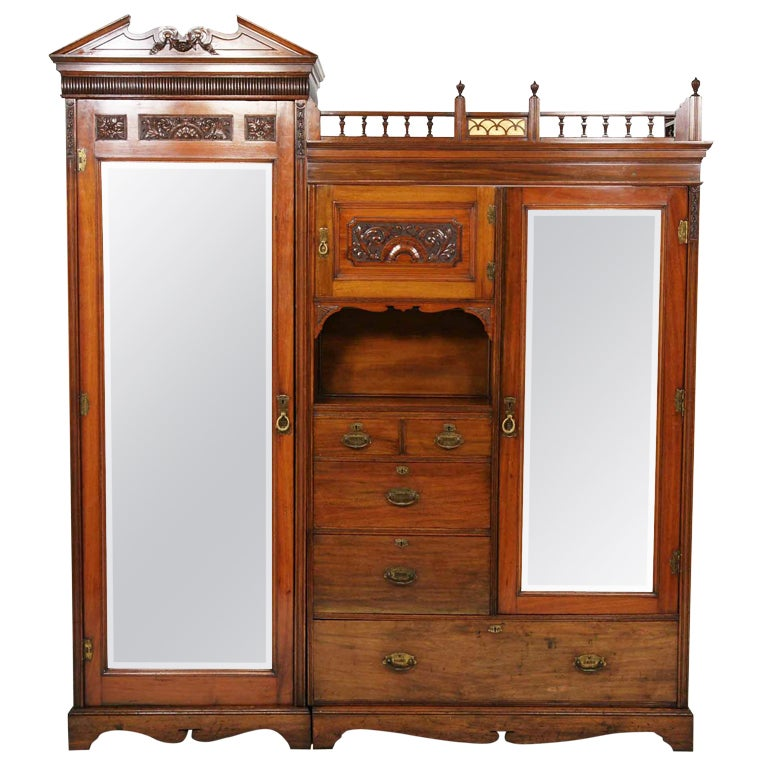 Home Depot Armoires Closet ~ Victorian walnut door armoire wardrobe at stdibs
