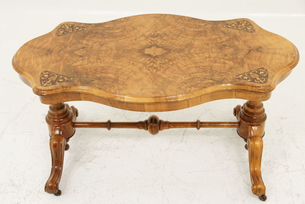 victorian walnut sofa table with shaped top at 1stdibs