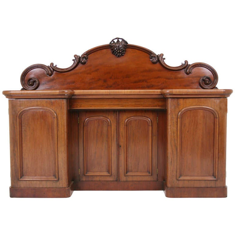 Antique Scottish Victorian Mahogany Sideboard, Buffet, Server ~1870~ 1 - Antique Scottish Victorian Mahogany Sideboard, Buffet, Server