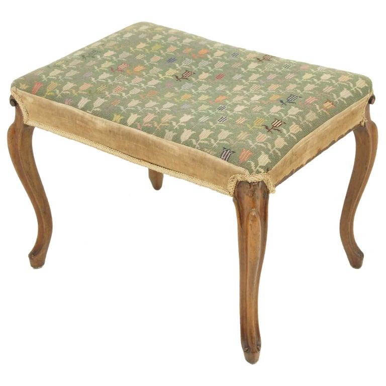 Victorian Mahogany Footstool At 1stdibs