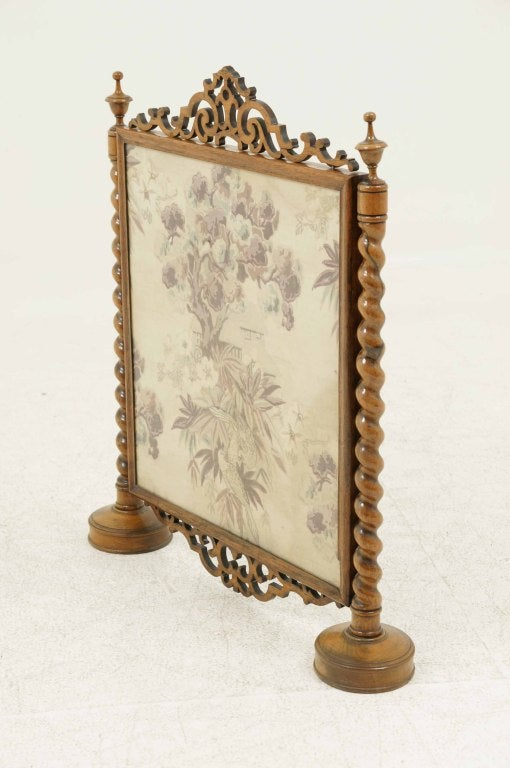 Victorian Framed Rosewood Firescreen image 3