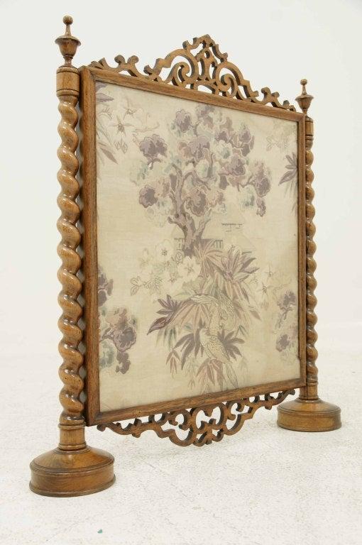 Victorian Framed Rosewood Firescreen image 9