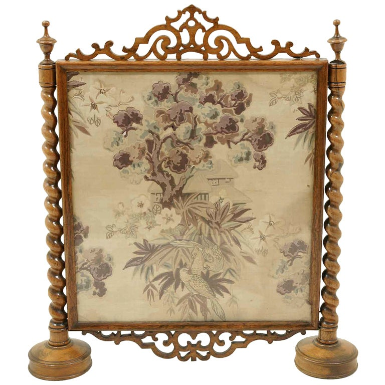 Victorian Framed Rosewood Firescreen
