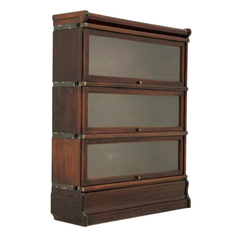 Mahogany Sectional Globe Wernicke Bookcase At 1stdibs