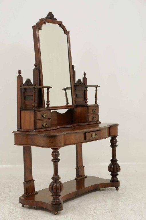 Victorian Mahogany Dressing Table Vanity At 1stdibs