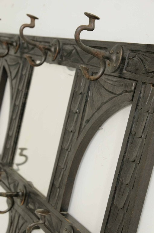 Greyhound Shipping Quote >> Victorian Carved Oak Hall Coat Rack at 1stdibs