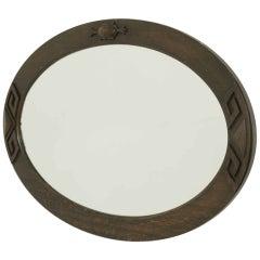 Oak Oval Bevelled Wall Mirror
