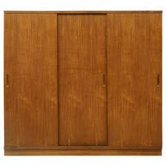 Danish Modern 3 Door Teak Wardrobe