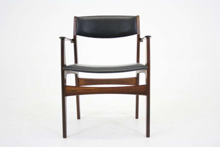 Beautiful Danish Modern Rosewood Arm Chairs By Erik Buck