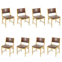 Set of Eight Oak Dining Chairs by Kai Lyngfeldt Larsen