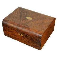 Victorian Walnut Writing Slope / Lap Desk