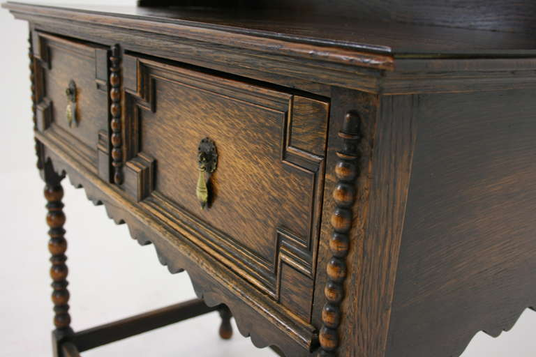 antique scottish petite oak welsh dresser buffet and hutch sideboard at 1stdibs. Black Bedroom Furniture Sets. Home Design Ideas