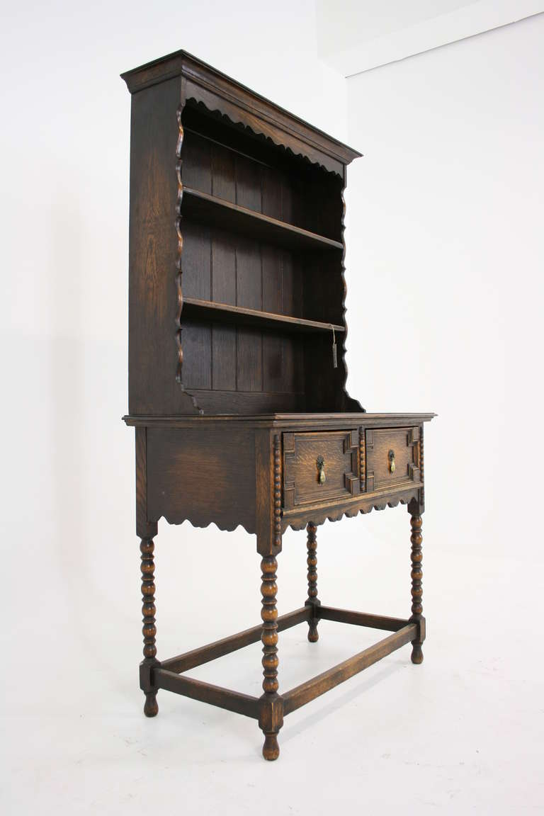 antique scottish petite oak welsh dresser buffet and. Black Bedroom Furniture Sets. Home Design Ideas