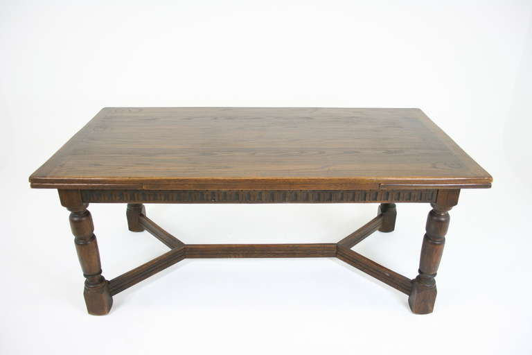 Antique Scottish Oak Draw Leaf Refectory Dining Table  : IMG8297l from 1stdibs.com size 768 x 512 jpeg 21kB