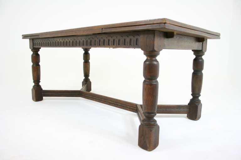 Antique Scottish Oak Draw Leaf Refectory Dining Table  : IMG8313l from www.1stdibs.com size 768 x 512 jpeg 21kB