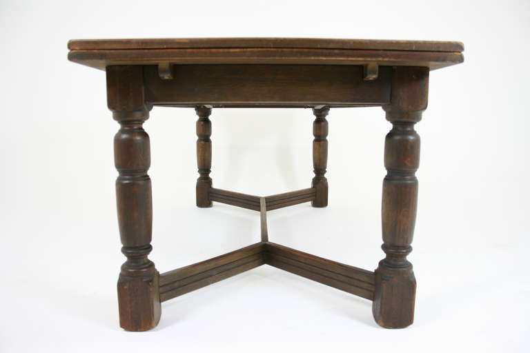 Antique Scottish Oak Draw Leaf Refectory Dining Table  : IMG8315l from www.1stdibs.com size 768 x 512 jpeg 23kB
