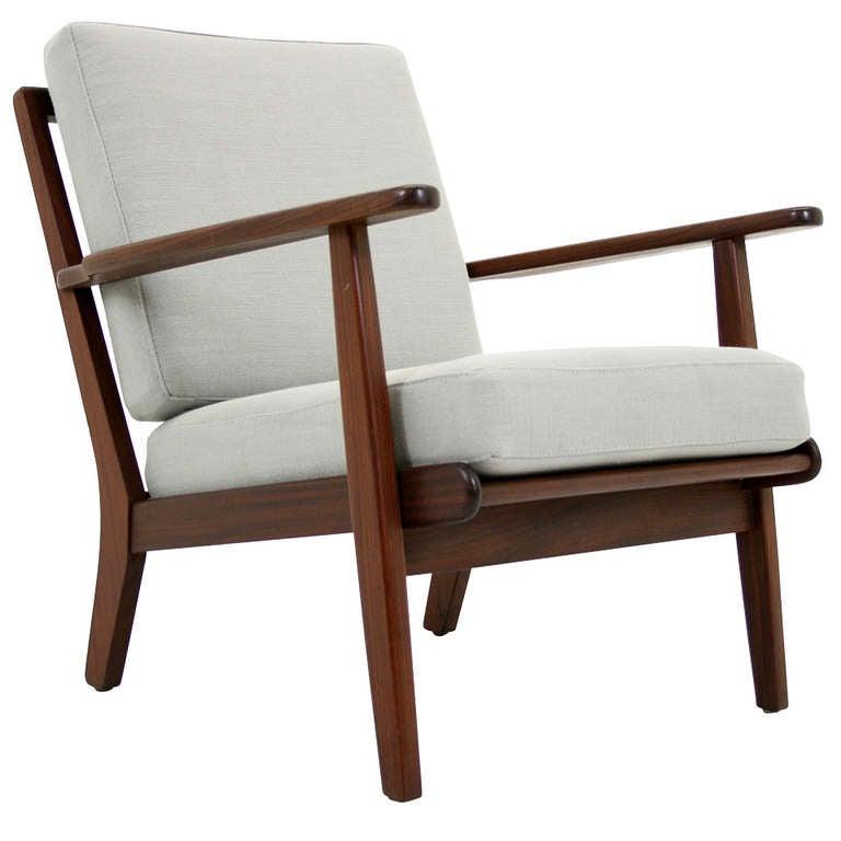 Danish Modern Teak Arm Lounge Chair at 1stdibs